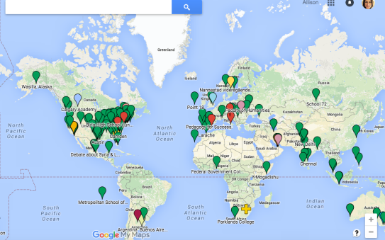 Check out the map of all the different events taking place on the same day! So neat!